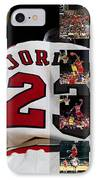 Michael Jordan IPhone Case by Joe Hamilton