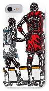 Micheal Jordan 1 IPhone Case by Jeremiah Colley