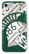 Michigan State Spartans Sports Retro Logo License Plate Fan Art IPhone Case