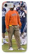 Mike London University Of Virginia Football IPhone Case by Jason O Watson