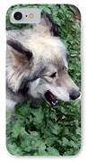 Miley The Husky With Blue And Brown Eyes - Impressionist Artistic Work IPhone Case by Doc Braham