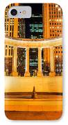 Millennium Monument Fountain In Chicago IPhone Case by Paul Velgos
