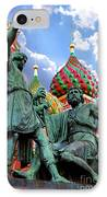 Minin And Pozharsky Monument In Moscow IPhone Case by Oleksiy Maksymenko
