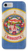 Minnesota State Flag IPhone Case by Pixel Chimp