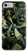 Miocene Fossil Shark Tooth Assortment IPhone Case
