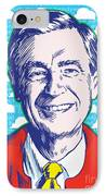 Mister Rogers Pop Art IPhone Case by Jim Zahniser
