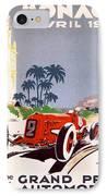 Monaco Grand Prix 1934 IPhone Case by Georgia Fowler