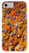 Monk Mass Alms Giving In Bangkok IPhone Case