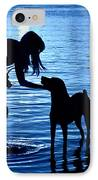 Moon Shadow IPhone Case by Laura Fasulo