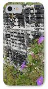 Morning Glories And Crab Traps IPhone Case by Theresa Willingham