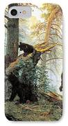 Morning In A Pine Forest IPhone Case by Ivan Shishkin