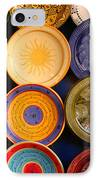 Moroccan Pottery On Display For Sale IPhone Case by Ralph A  Ledergerber-Photography