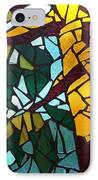 Mosaic Stained Glass - First Tree IPhone Case by Catherine Van Der Woerd