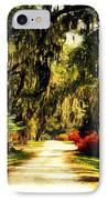 Moss On The Trees At Monks Corner In Charleston IPhone Case