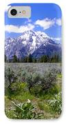 Mount Moran Wildflowers IPhone Case by Brian Harig