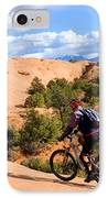 Mountain Biking Moab Slickrock Trail - Utah IPhone Case by Gary Whitton