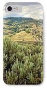 Mountains North Of The Lamar IPhone Case by Marty Koch