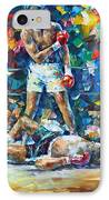 Muhammad Ali IPhone Case by Leonid Afremov