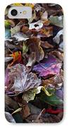 Multicolored Autumn Leaves IPhone Case by Rona Black