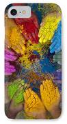 Multicoloured Hands IPhone Case by Tim Gainey