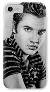 Music Legends Elvis IPhone Case by Andrew Read