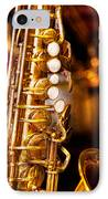 Music - Sax - Sweet Jazz  IPhone Case by Mike Savad