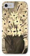 My Daisies Sepia Version IPhone Case by Ramona Matei