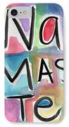 Namaste Watercolor IPhone Case by Linda Woods