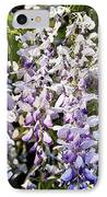 Nancys Wisteria Cropped Db IPhone Case by Rich Franco