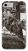 National Stock Show Bareback Riding IPhone Case by Priscilla Burgers