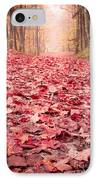 Nature's Red Carpet Revisited IPhone Case by Edward Fielding