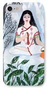 Nava Durga Brahmacharini IPhone Case by Pratyasha Nithin