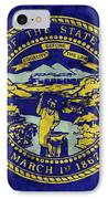 Nebraska Flag IPhone Case by World Art Prints And Designs