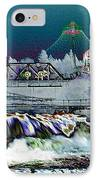Neon Lights Of Spokane Falls IPhone Case by Carol Groenen