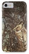 Never So Weary Never So Woeful Illustration To A Midsummer Night S Dream IPhone Case by Arthur Rackham