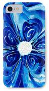 New Blue Glory Flower Art - Buy Prints IPhone Case