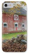 New England Barn Square IPhone Case