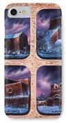 New Mexico Churches In Snow IPhone Case by Ricardo Chavez-Mendez