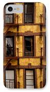 New York City Apartment Building Study IPhone Case by Amy Cicconi