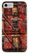 New York City Graffiti Building IPhone Case by Amy Cicconi