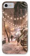 New York City - Winter Snow Scene - East Village IPhone Case