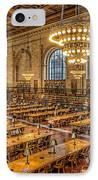 New York Public Library Main Reading Room Ix IPhone Case