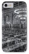 New York Public Library Main Reading Room X IPhone Case