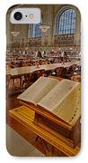 New York Public Library Rose Main Reading Room  IPhone Case by Susan Candelario