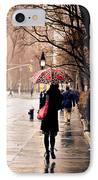 New York Rain - Greenwich Village IPhone Case