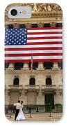New York Stock Exchange Bride And Groom Dancing IPhone Case