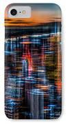 New York- The Night Awakes - Orange IPhone Case by Hannes Cmarits