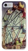 Newport Beach Ferris Wheel In Balboa Fun Zone Photo IPhone Case by Paul Velgos