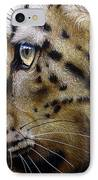Nina The Snow Leopard IPhone Case by Jurek Zamoyski