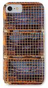 Nine Orange Lobster Traps IPhone Case by Stuart Litoff